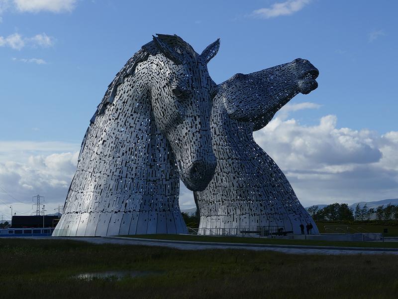 Kelpies in Scotland