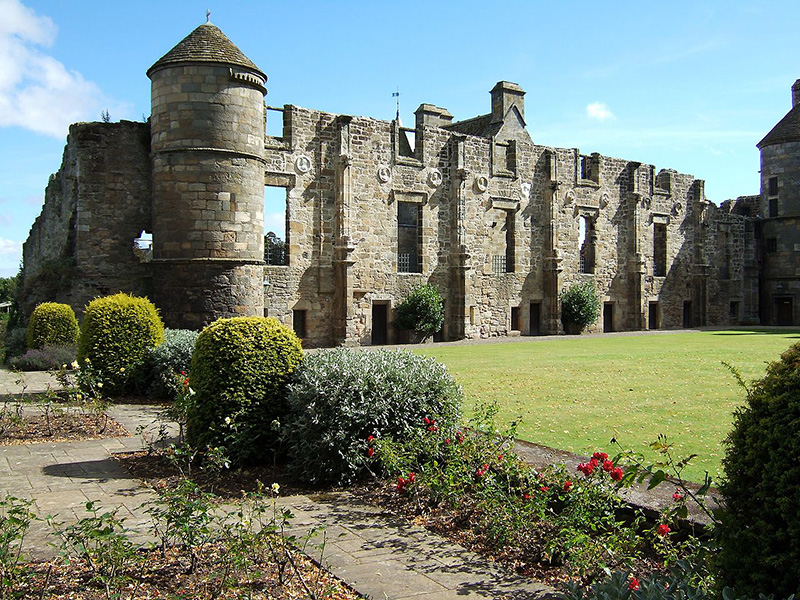 Falkland Palace North Range foundations rose garden Wikimedia