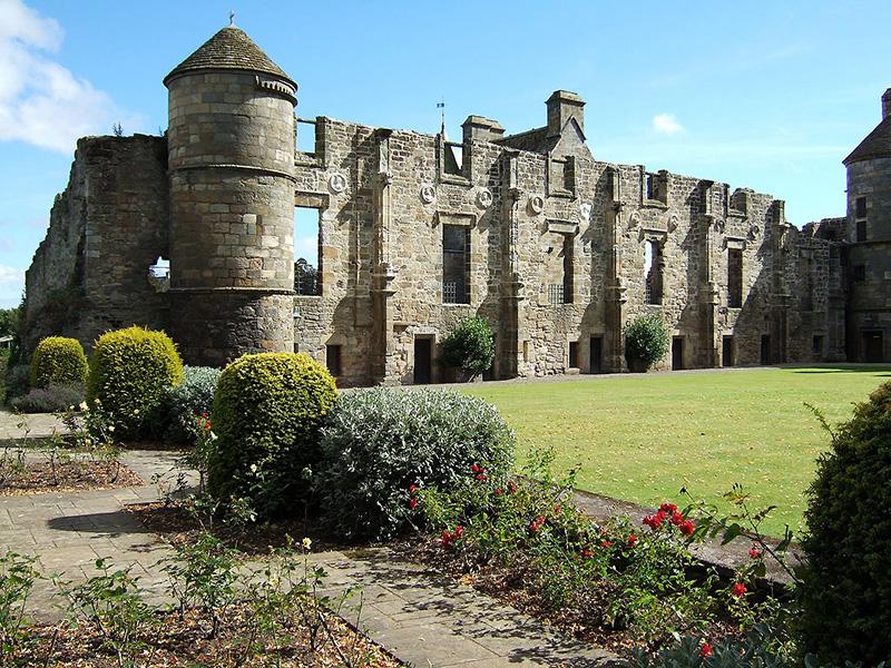 Falkland Palace North Range foundations rose garden Wikimedia
