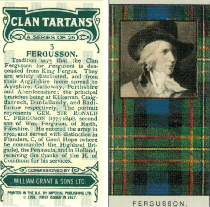 Fergusson Clan Card