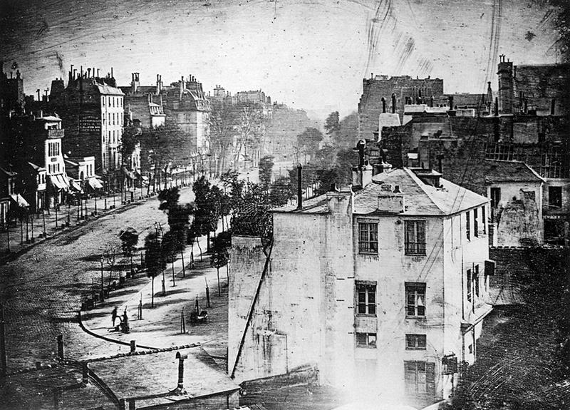 Boulevard du Temple Paris Daguerreotype Louis Daguerre 1838
