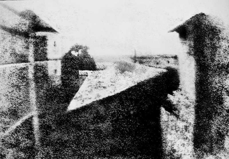Point de vue du Gras by Niepce - earliest surviving photograph using a camera obscura