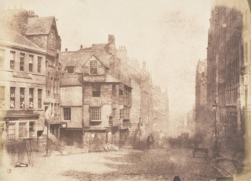 View of High Street Edinburgh c. 1845 by David Octavius Hill and Robert Adamson