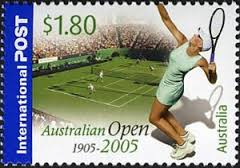 tennis on postage stamps