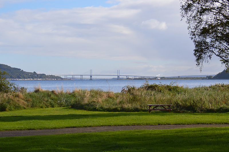 A view of Kessock Bridge from Bunchrew Caravan & Camping Park © 2012 Scotiana