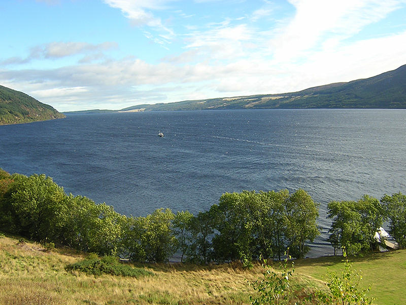A view of Loch Ness from Urquhart Castle © 2000 Scotiana
