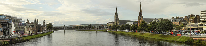Panorama of Inverness looking downstream to the Greig St Bridge Wikipedia