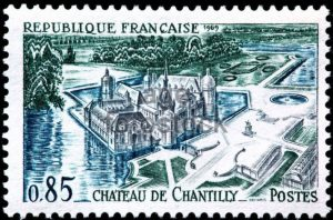 France postage stamp Chateau de Chantilly