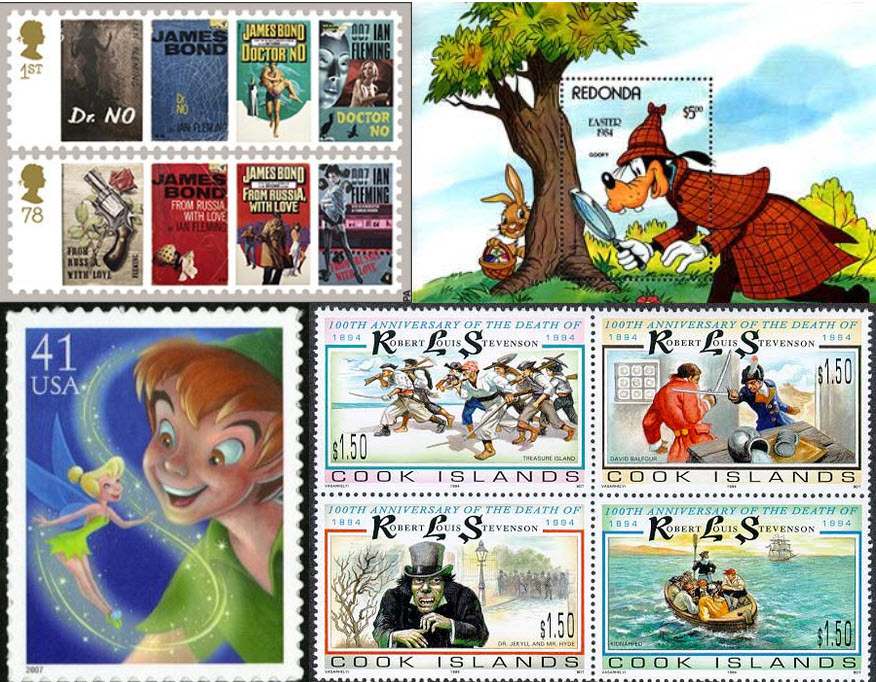 scottish_fictional_characters_postage_stamps