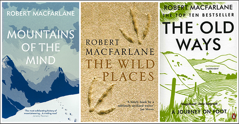 Robert Macfarlane three travel books r1