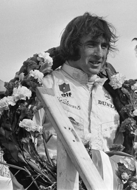 Jacquie Stewart at the 1969 Dutch Grand Prix.