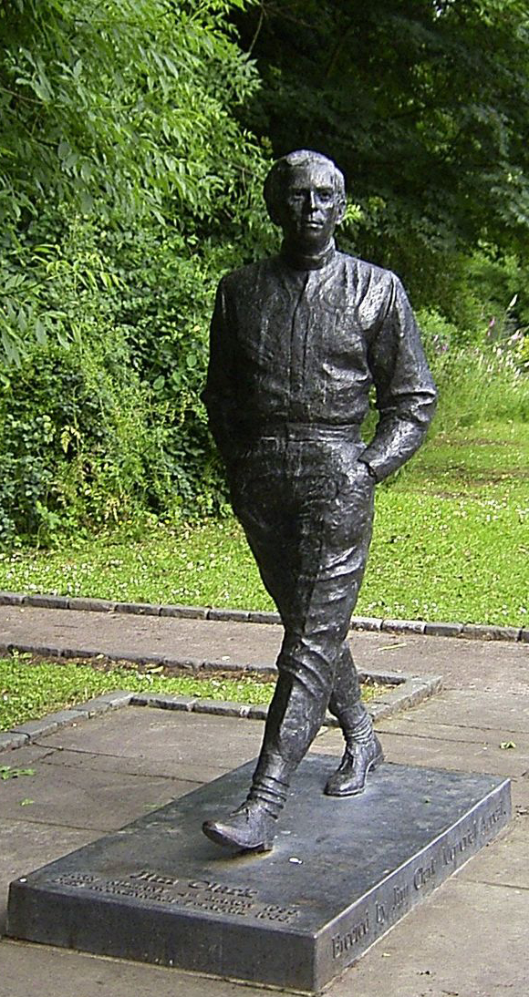 Jim Clark memorial sculpture in Kilmany