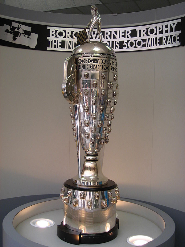 The Borg-Warner Trophy, presented to the Indy 500 winners