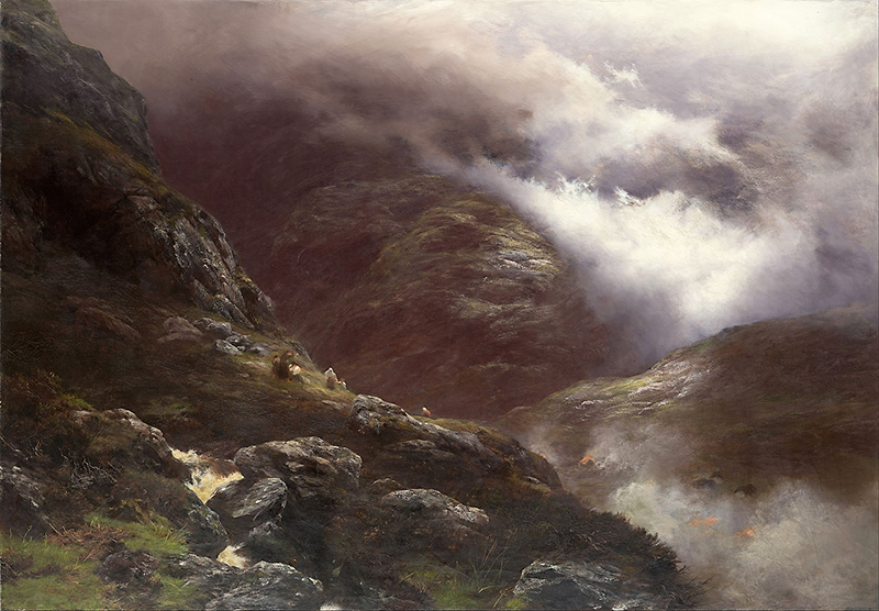 After the Massacre of Glencoe - oil on canvas by Scottish painter Peter Graham (1836-1921 )