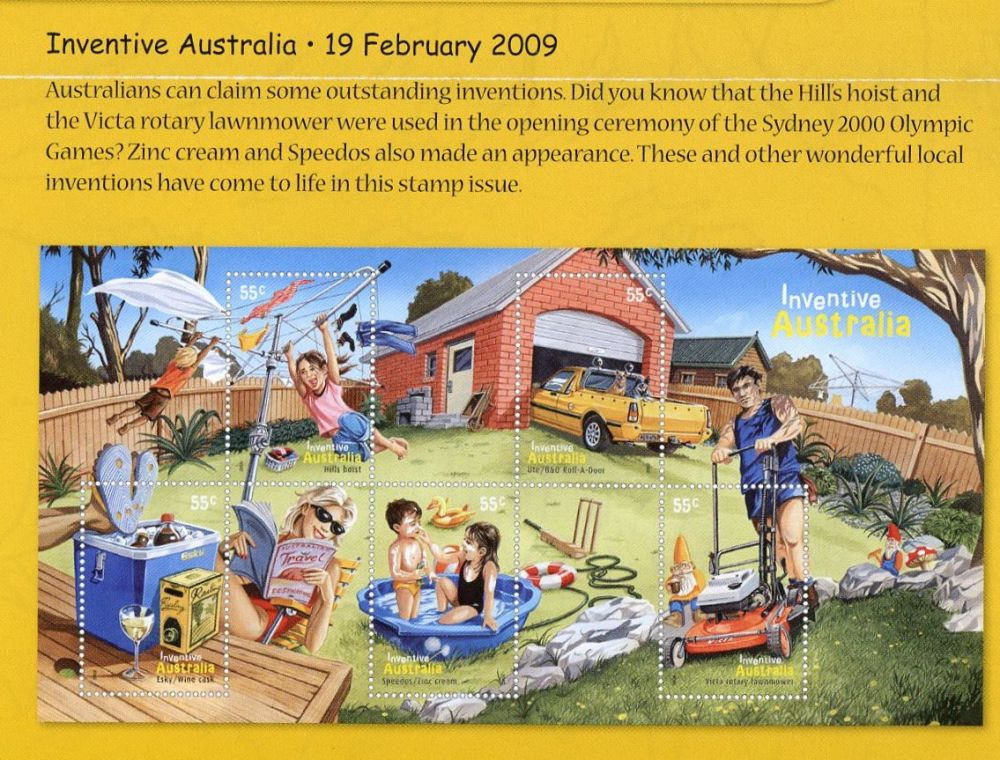 Lawn mowers on postage stamps australia