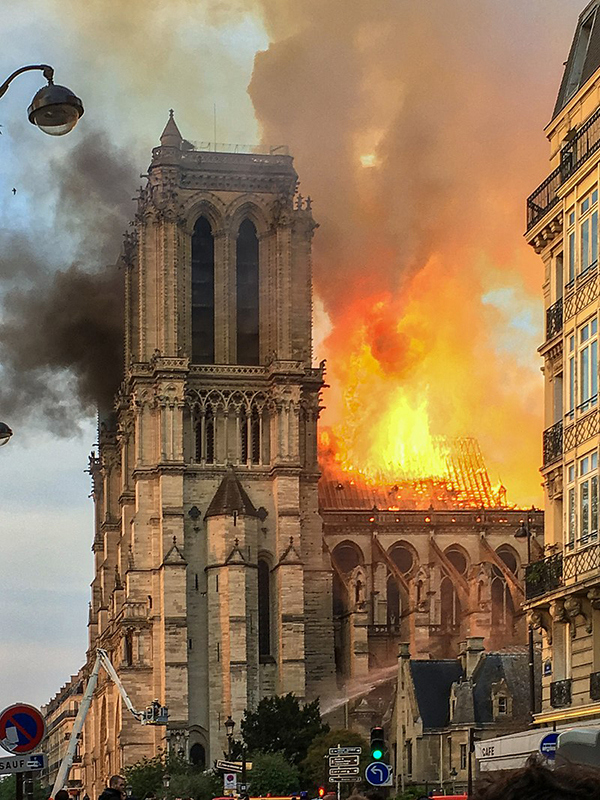 15 April 2019 fire at Notre Dame of Paris Source Wikipedia