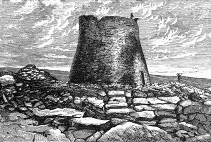 Mousa Broch Shetland illustration Pagan Times J. Anderson 1883