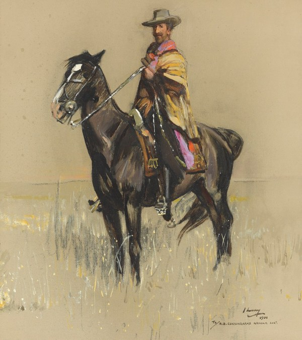 Don Roberto on Pampa by Sir John Lavery