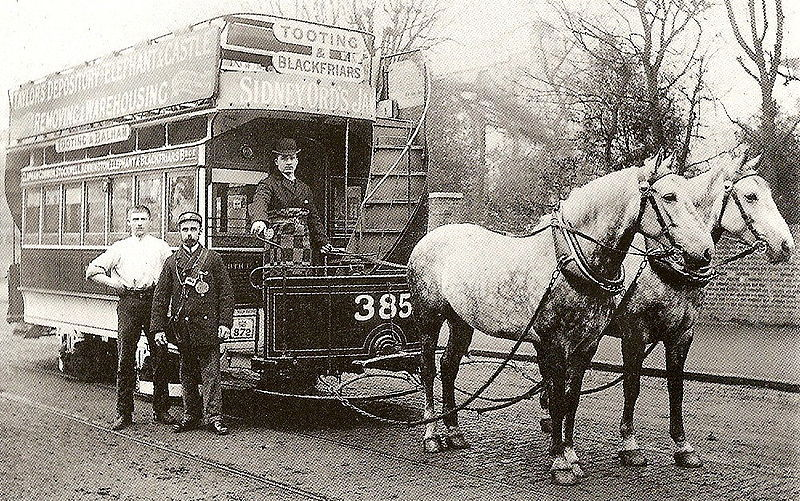 London Horse-drawn tram circa 1890