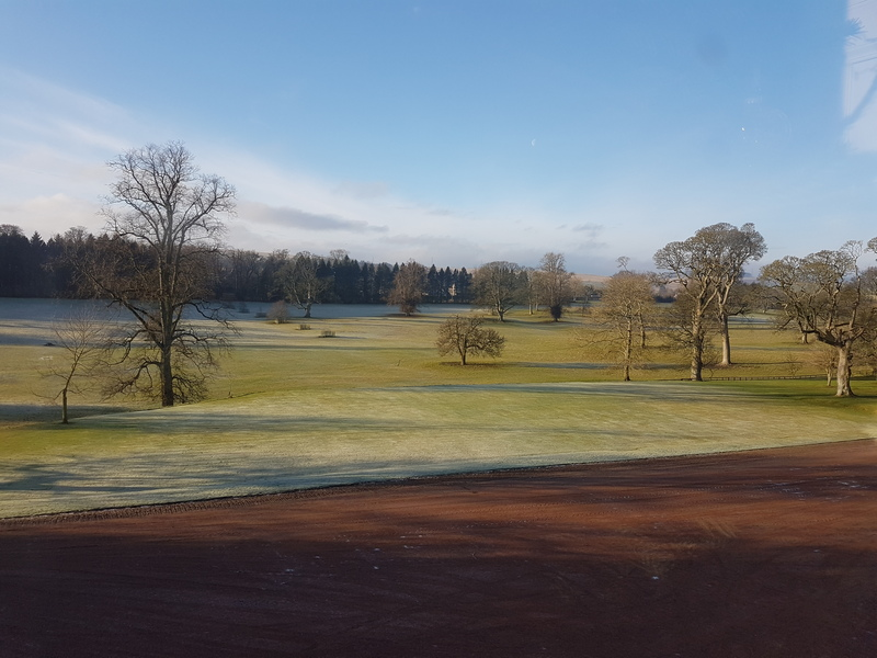 The park in the morning at Thirlestane Castle © 2019 Scotiana