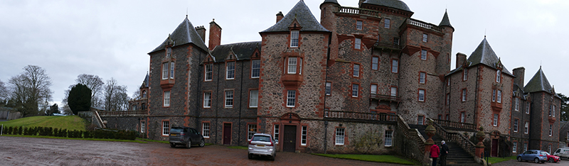 Panoramic view of Thirlestane Castle © 2019 Scotiana