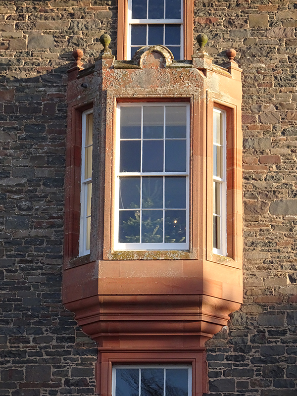 Thirlestane Castle Earl & Countess apartment window © 2019 Scotiana