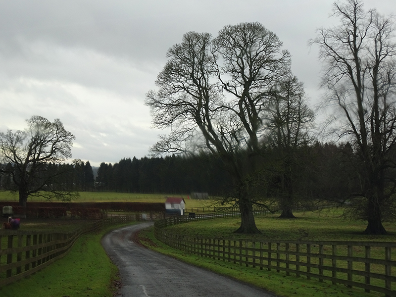 Thirlestane Castle country road © 2019 Scotiana