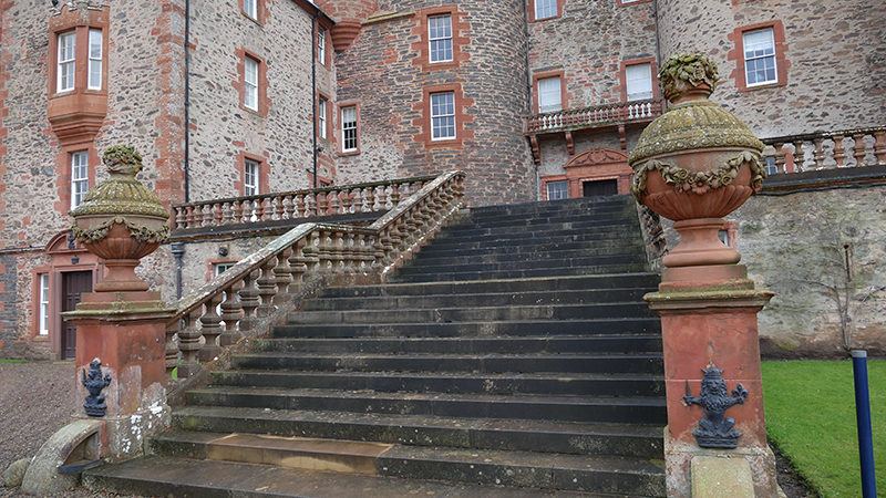 Thirlestane Castle staircase © 2019 Scotiana