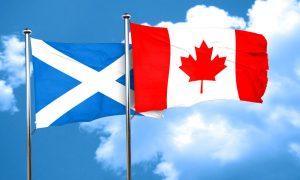 scotland flag with Canada flag