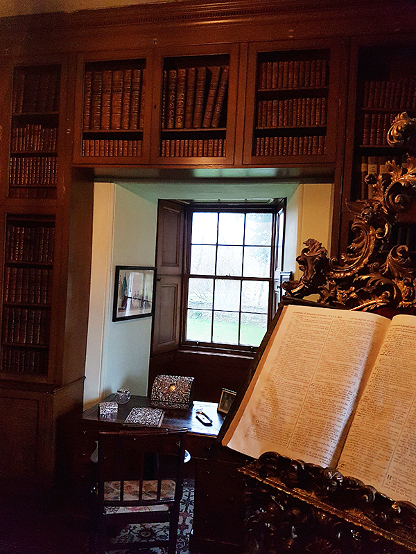 Thirlestane Castle Small Library with its rococo lectern © 2019 Scotiana