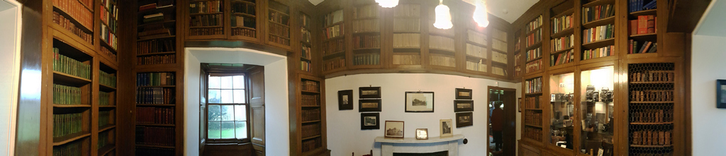 Thirlestane Castle panoramic view of the small Library © 2019 Scotiana