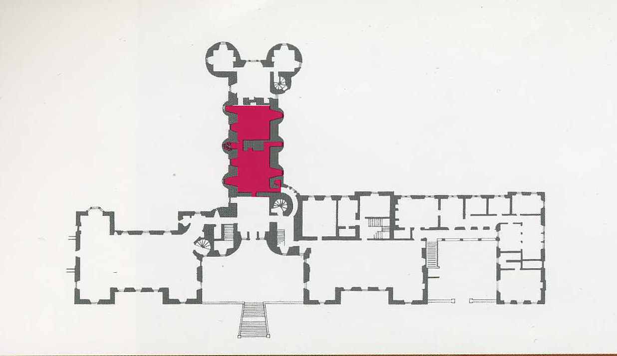 Thirlestane Castle plan 2 The panelled Room and Library