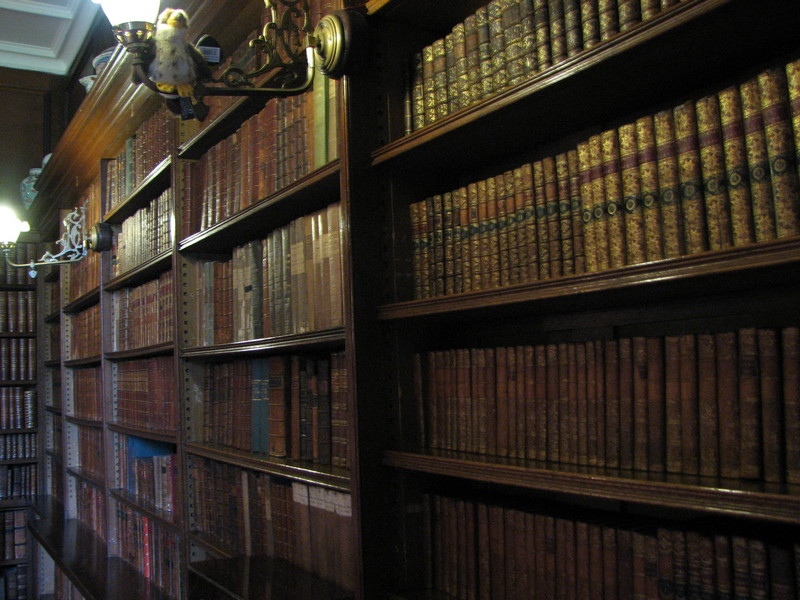 Thirlestane Castle panoramic view of the large library © 2019 Scotiana