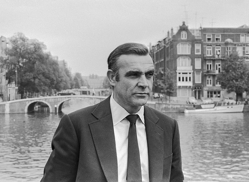 Sean Connery during the filming of Diamonds Are Forever (1971)