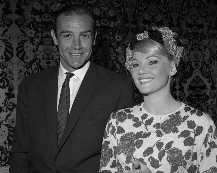 Sean Connery with Diane Cilento at Dr. No premiere