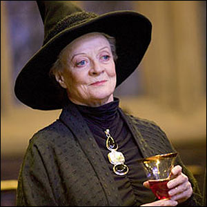 Actress Maggie Smith as Professor Minerva McGonagall in Harry Potter series