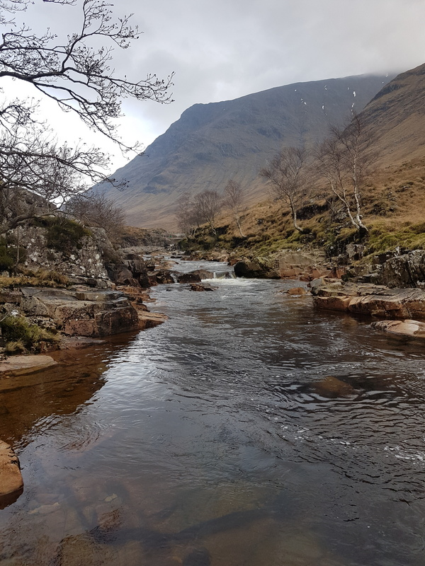 Scotland in Winter - Glen Etive River and Mountains © 2020 Scotiana