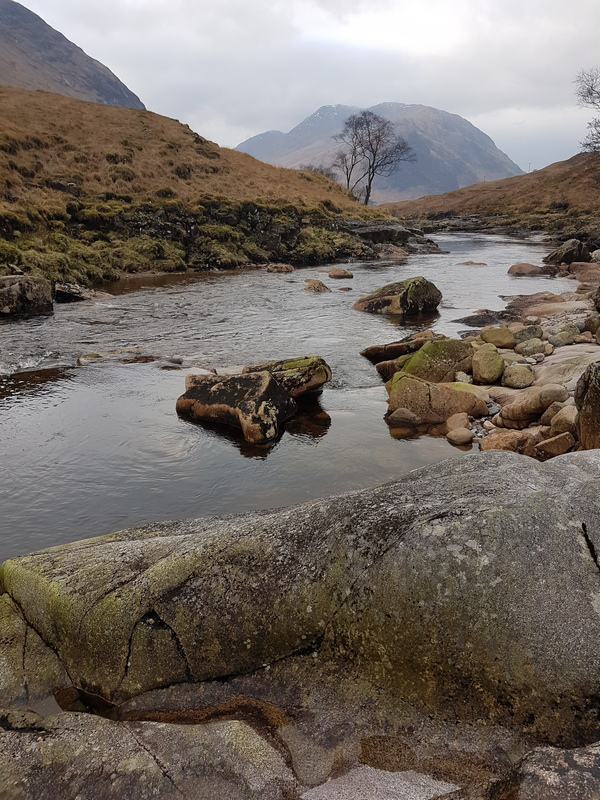 Scotland in Winter - Glen Etive, its river and mountains © 2020 Scotiana