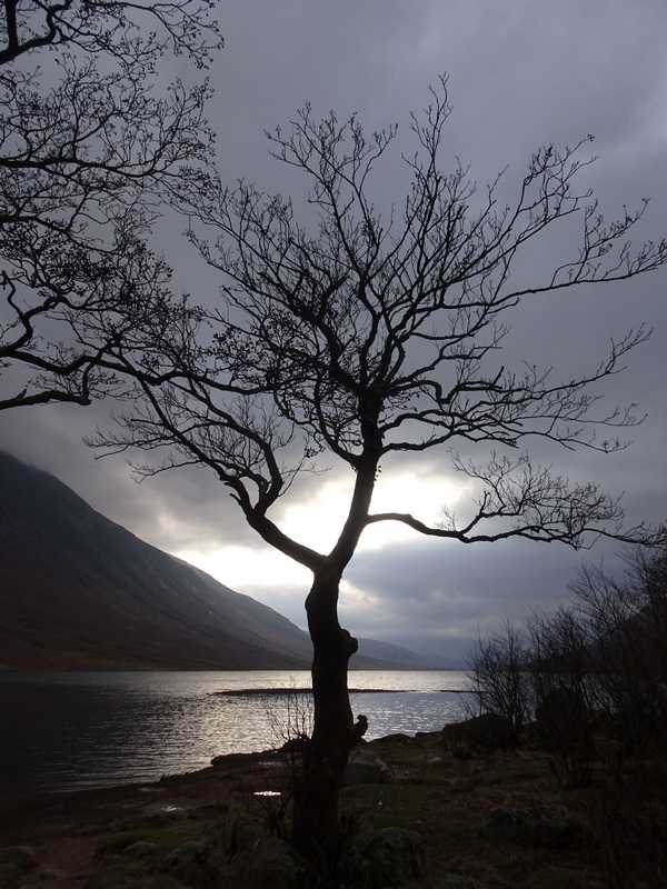 Scotland in winter Loch Etive at the end of the road © 2020 Scotiana