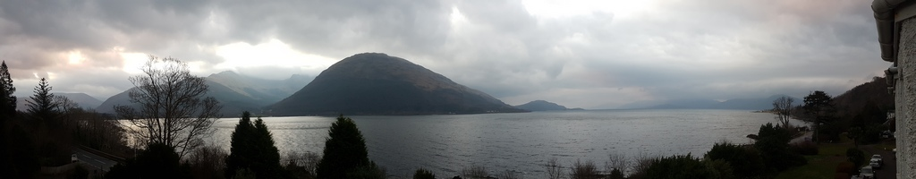View on Loch Linnhe from Lodge on the Loch Hotel © 2019 Scotiana