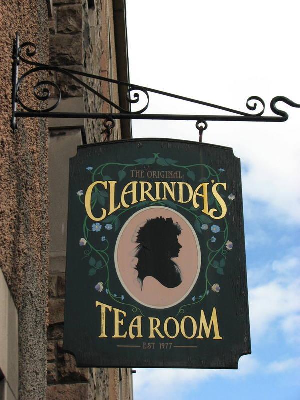 Clarinda's Tearoom Canongate Edinburgh © 2012 Scotiana