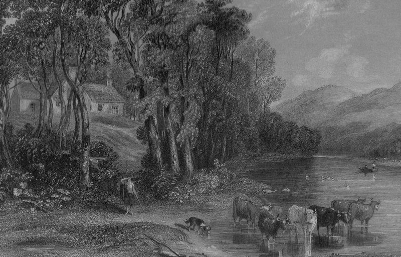 Ellisland Farm in the time of Robert Burns - Source Wikimedia