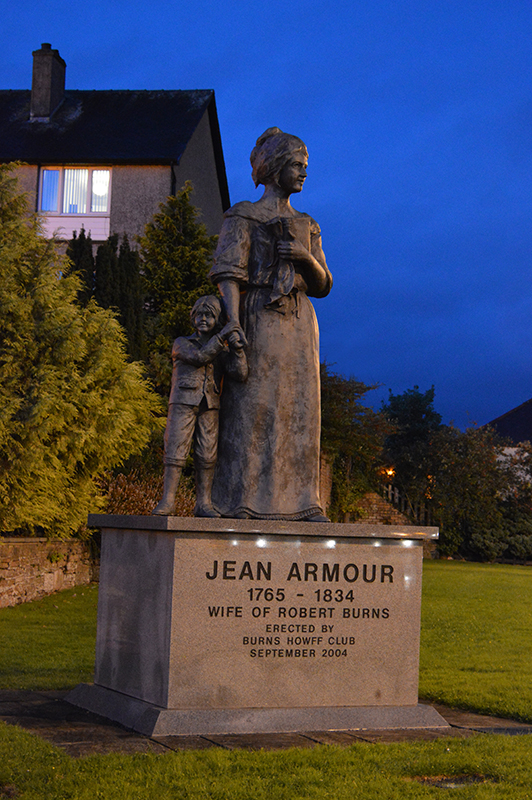 Jean Armour statue in Dumfries Scotland © 2012 Scotiana