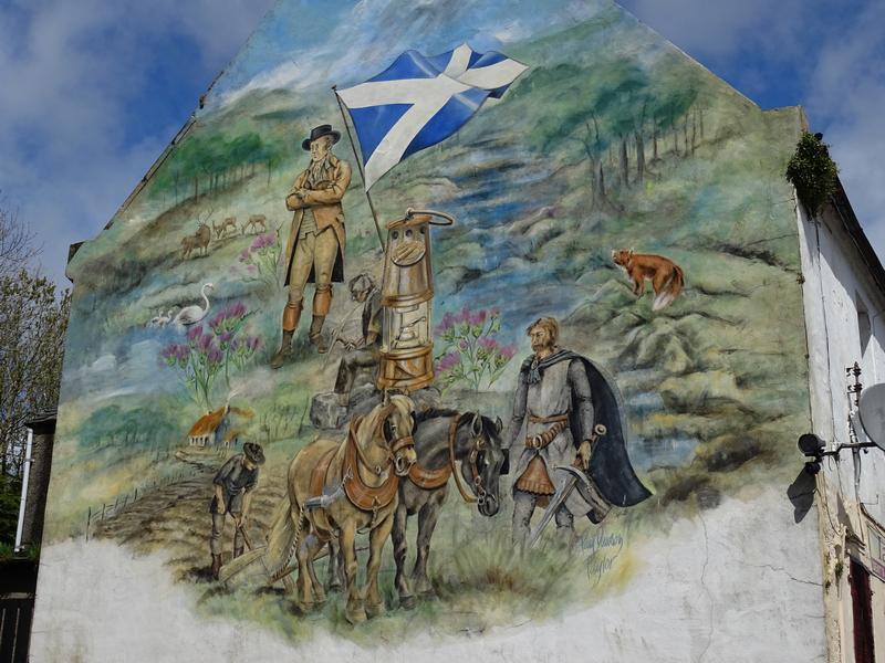 New Cumnock Robert Burns mural © 2015 Scotiana