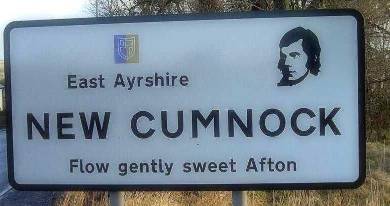 New Cumnock Robert Burns sign