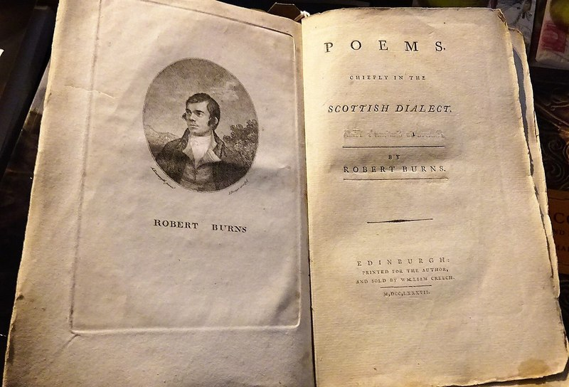 Poems, Chiefly in the Scottish Dialect by Robert Burns 1787 edition © Rosser1954 on Wikimedia