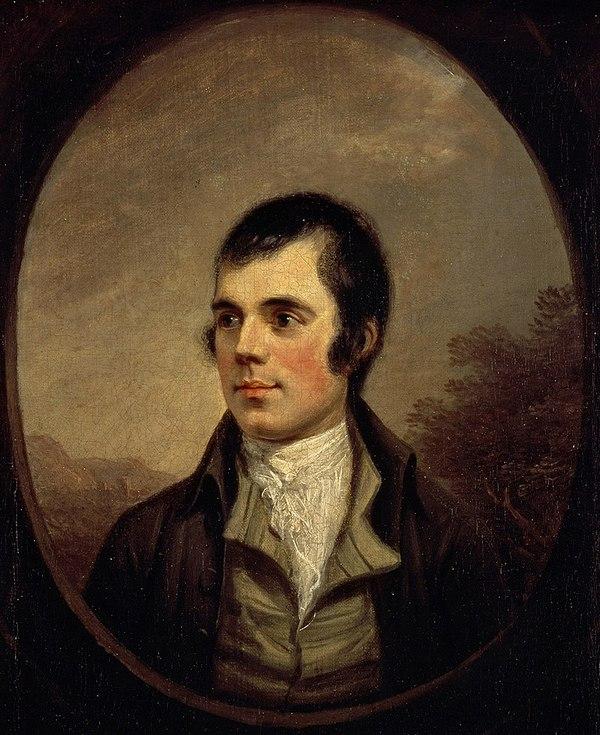 Portrait of Robert Burns by Alexander Nasmyth, 1787, Scottish National Portrait Gallery.