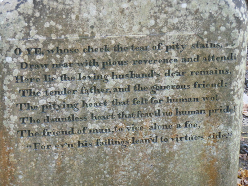 Robert Burns's epitaph for his father Alloway Old Kirkyard © 2012 Scotiana
