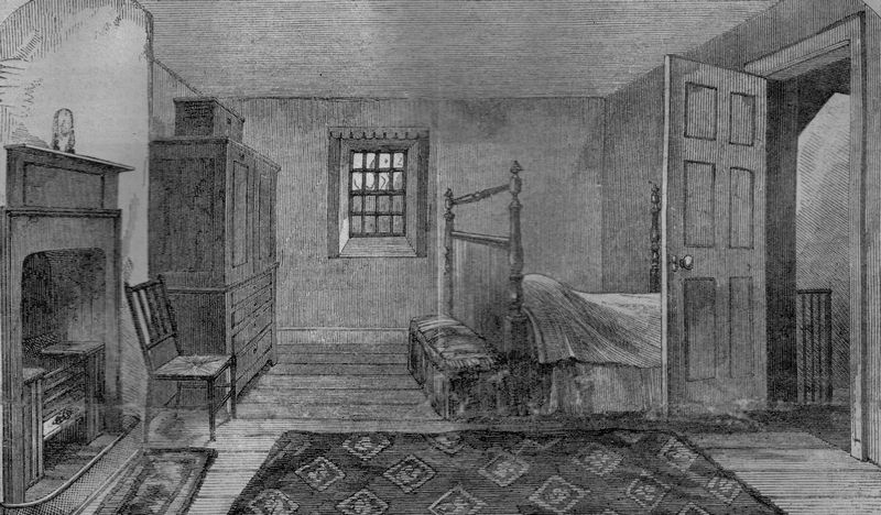 The death room of Robert Burns - Source Wikipedia