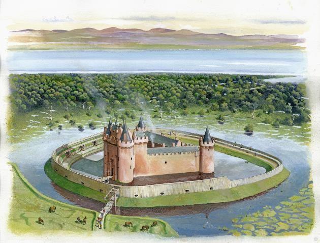 Caerlaverock Castle model Historic Scotland